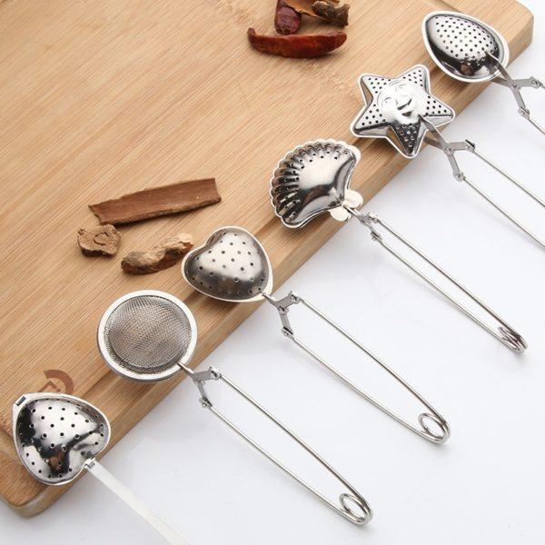 Stainless Steel Tea Infuser Sphere Mesh Tea Ball Bulk Tea Filter Diffuser Handle Seasoning Strainer Teapot Gadgets Kitchen Tools