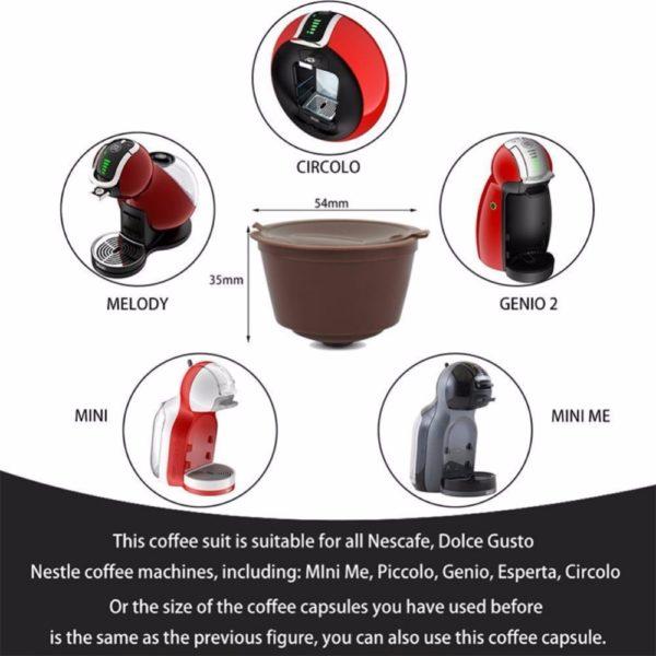 3pcs/set Rechargeable Reusable Pod Nespresso Coffee Capsule