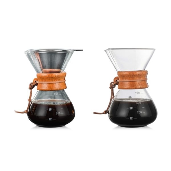 400ml High-Temperature Resistant Glass Coffee Maker
